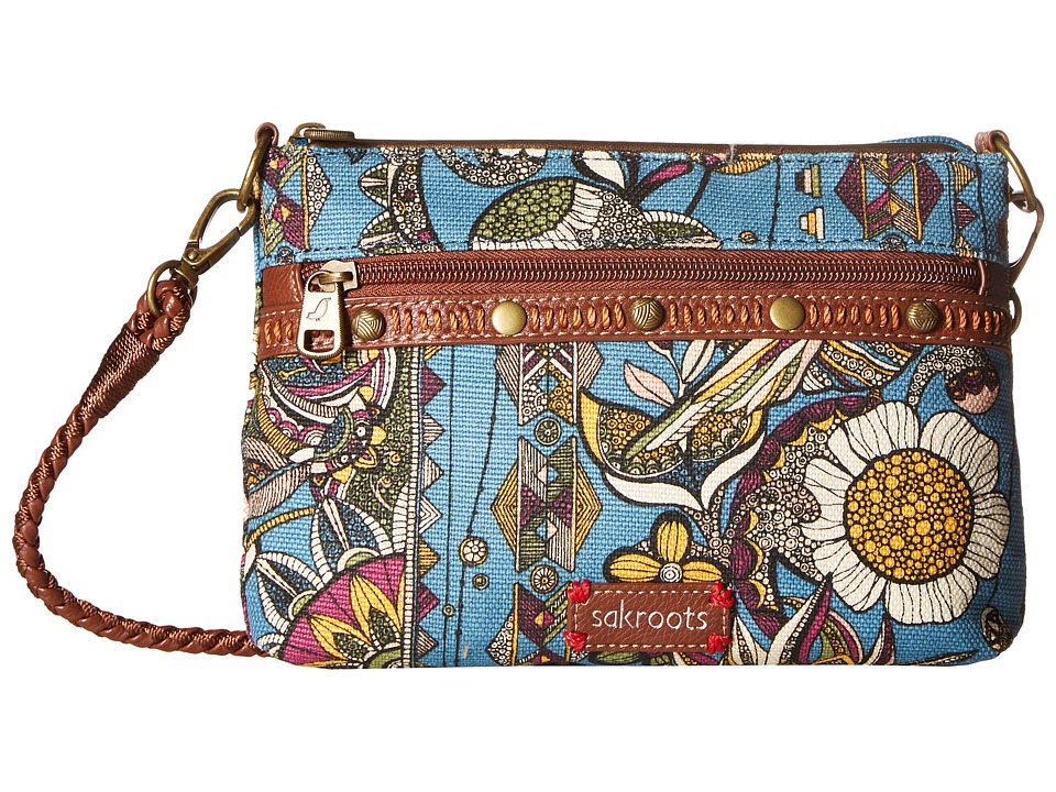 Sakroots - Artist Circle Campus Mini (Lagoon Spirit Desert) Cross Body Handbags