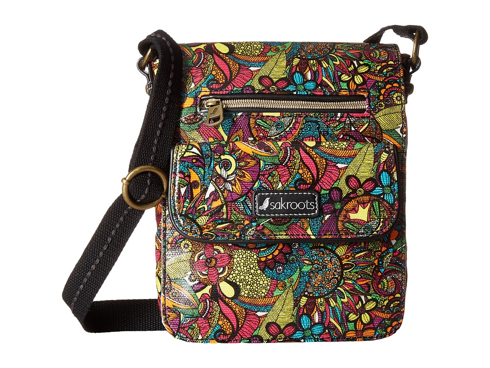 Sakroots - Artist Circle Small Flap Messenger (Rainbow Spirit Desert) Cross Body Handbags