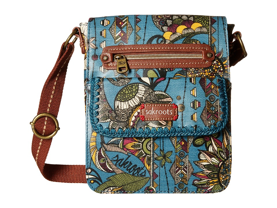 Sakroots - Artist Circle Small Flap Messenger (Lagoon Spirit Desert) Cross Body Handbags