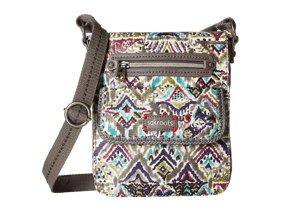 Sakroots - Artist Circle Small Flap Messenger (Slate Brave Beauti) Cross Body Handbags