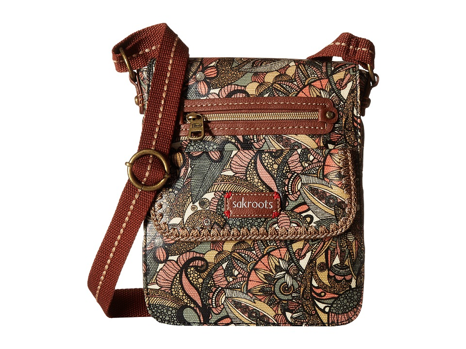 Sakroots - Artist Circle Small Flap Messenger (Sienna Spirit Desert) Cross Body Handbags
