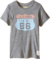 The Original Retro Brand Kids - Route 66 Streaky Tri-Blend Short Sleeve Tee (Little Kids/Big Kids)