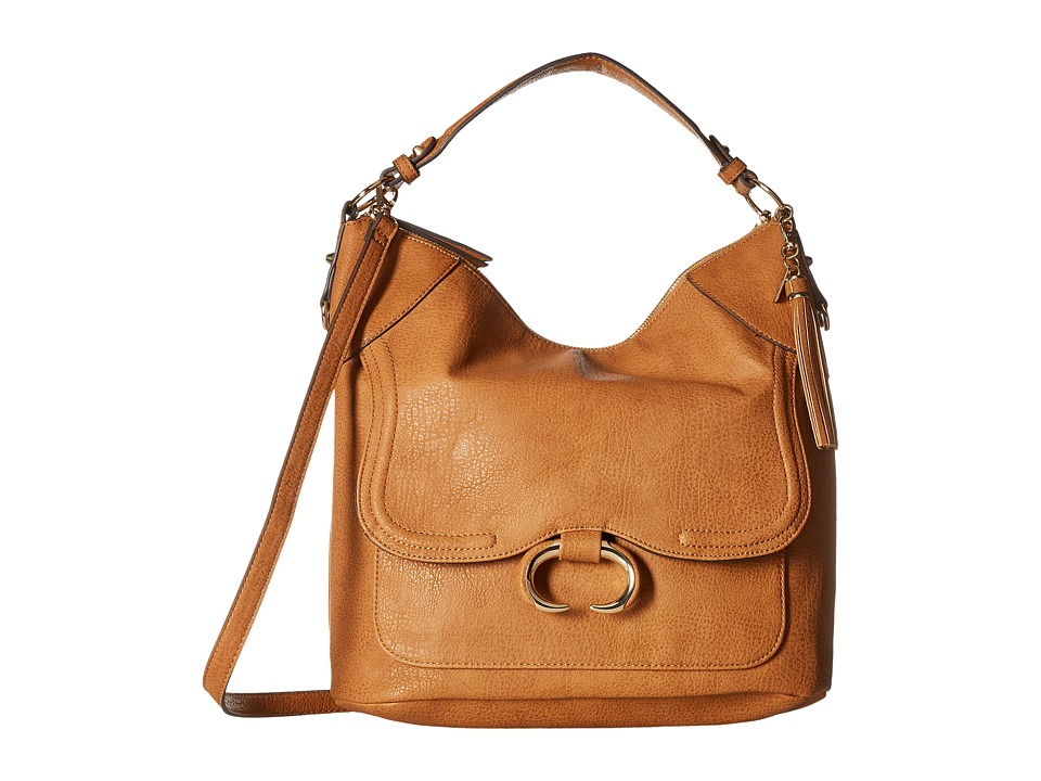 Jessica Simpson - Estelle Crossbody Hobo (Cognac) Hobo Handbags