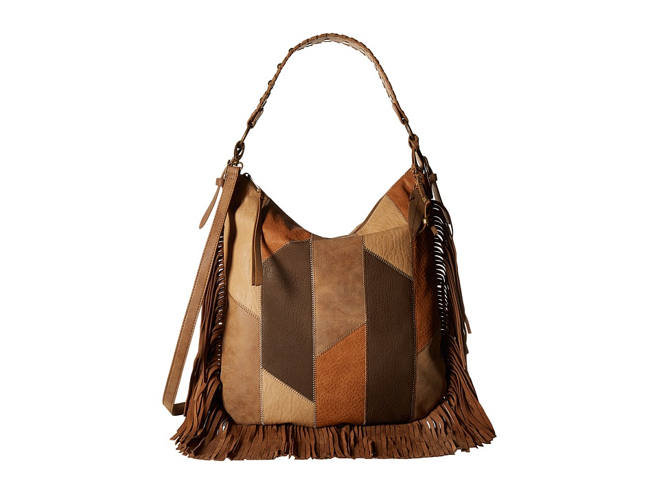 Jessica Simpson - Delilah Crossbody Hobo (Patchwork Neutral Multi) Hobo Handbags