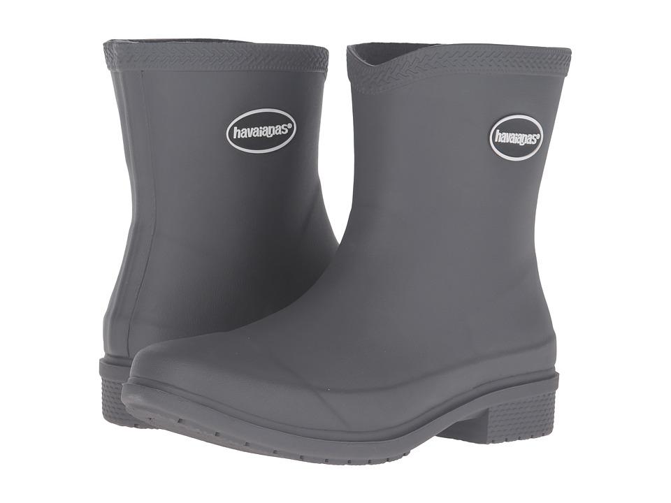 Havaianas Galochas Low Matte Rain Boot (Dark Grey) Women