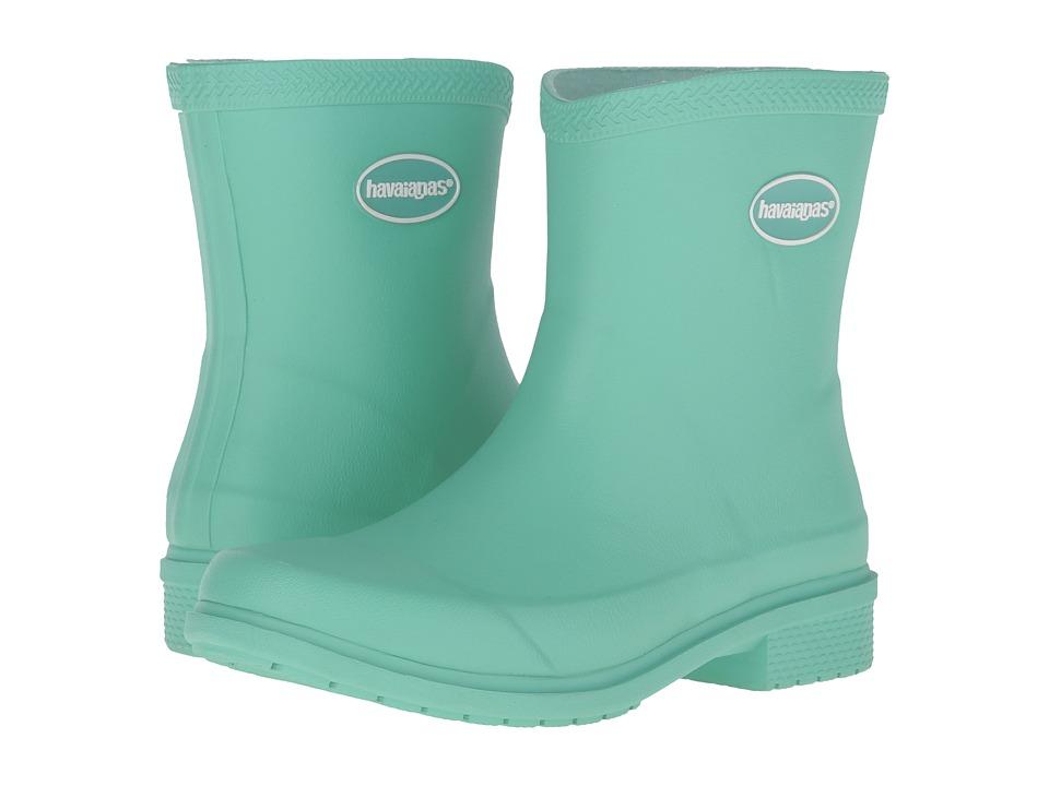 Havaianas Galochas Low Matte Rain Boot (Light Green) Women