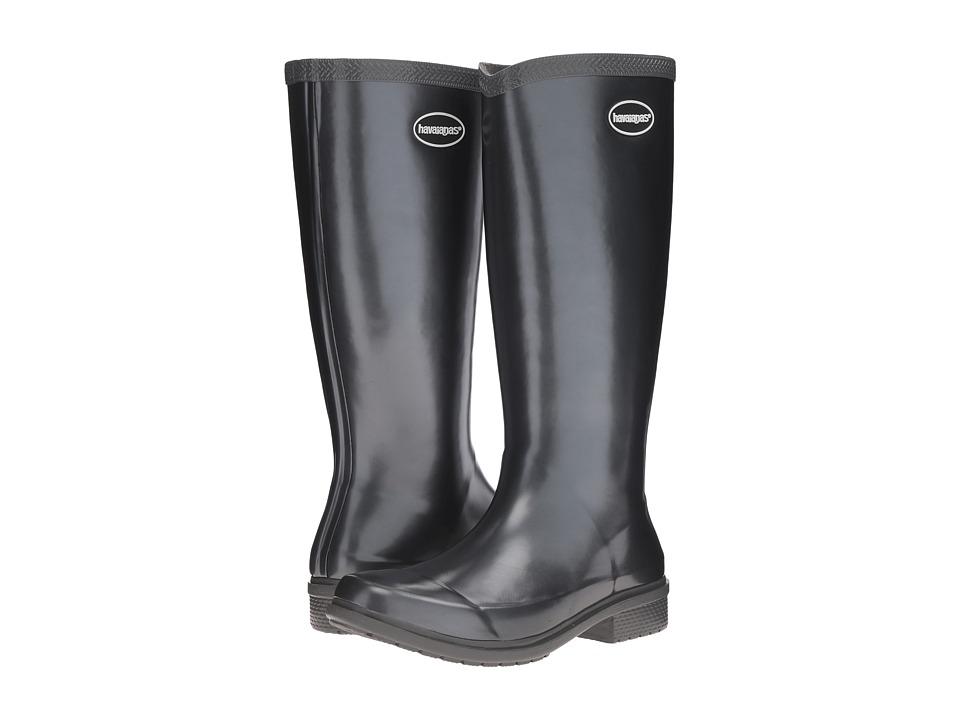 Havaianas Galochas Hi Metallic Rain Boot (Dark Grey Metallic) Women