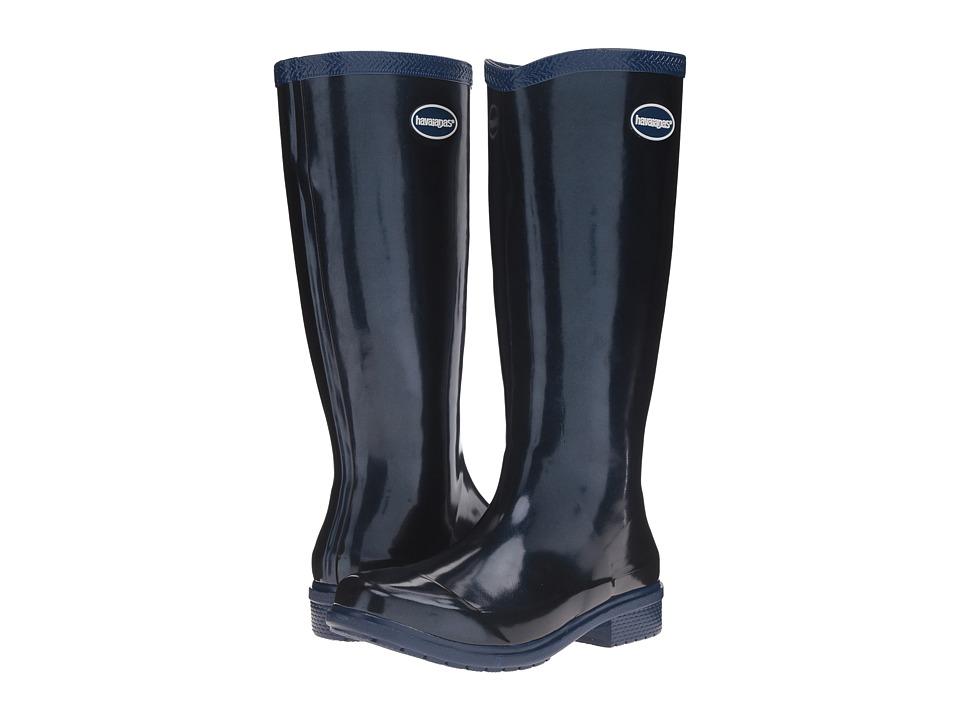 Havaianas Galochas Hi Metallic Rain Boot (Navy Blue Metallic) Women