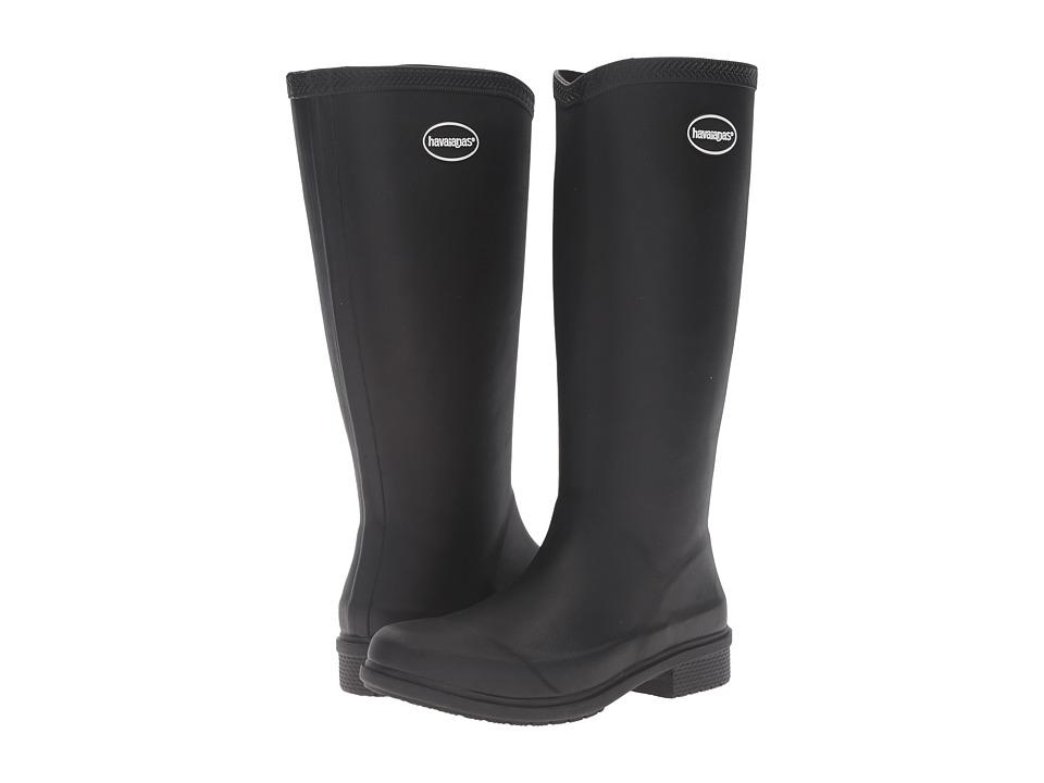 Havaianas Galochas Hi Matte Rain Boot (Black) Women