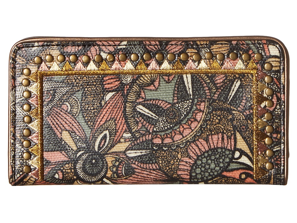 Sakroots - Artist Circle Slim Wallet (Sienna Spirit Desert) Wallet Handbags