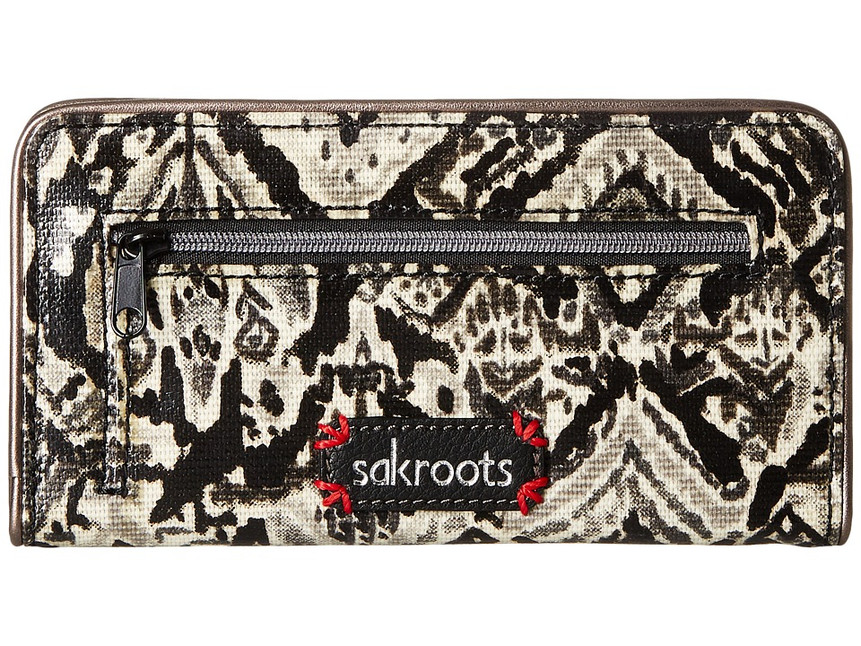Sakroots - Artist Circle Slim Wallet (Jet Brave Beauti) Wallet Handbags