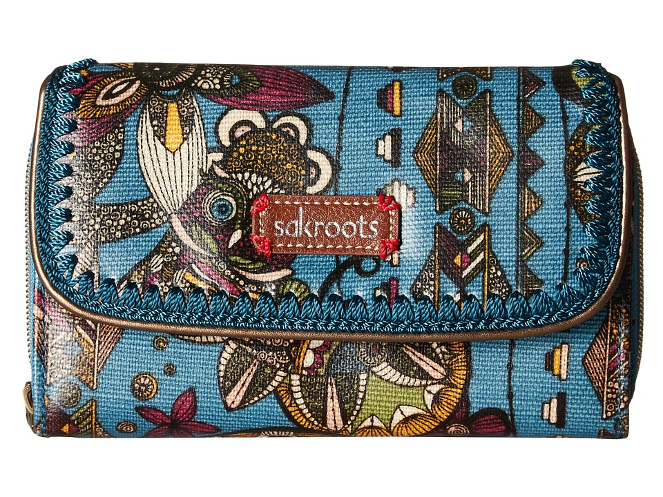 Sakroots - Artist Circle Xl Wallet (Lagoon Spirit Desert) Wallet Handbags