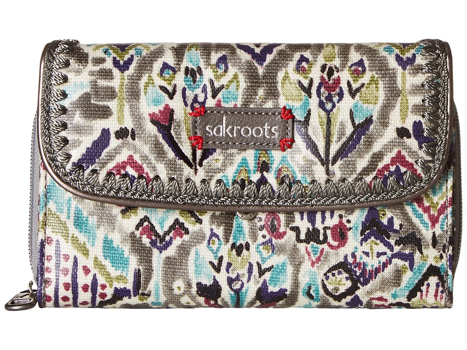 Sakroots - Artist Circle Xl Wallet (Slate Brave Beauti) Wallet Handbags