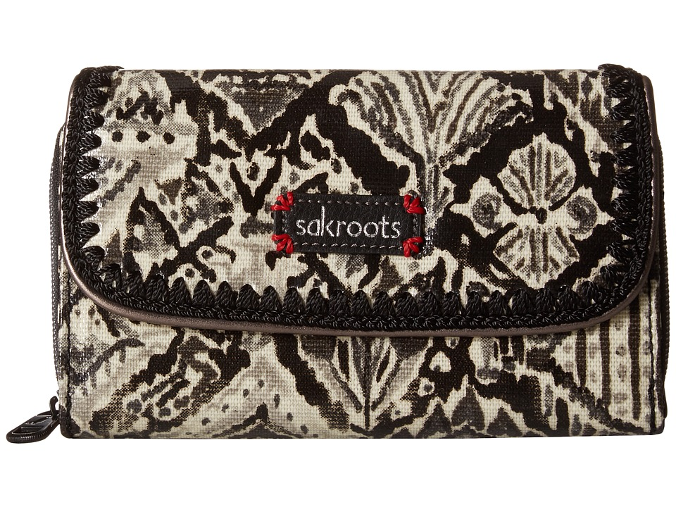 Sakroots - Artist Circle Xl Wallet (Jet Brave Beauti) Wallet Handbags