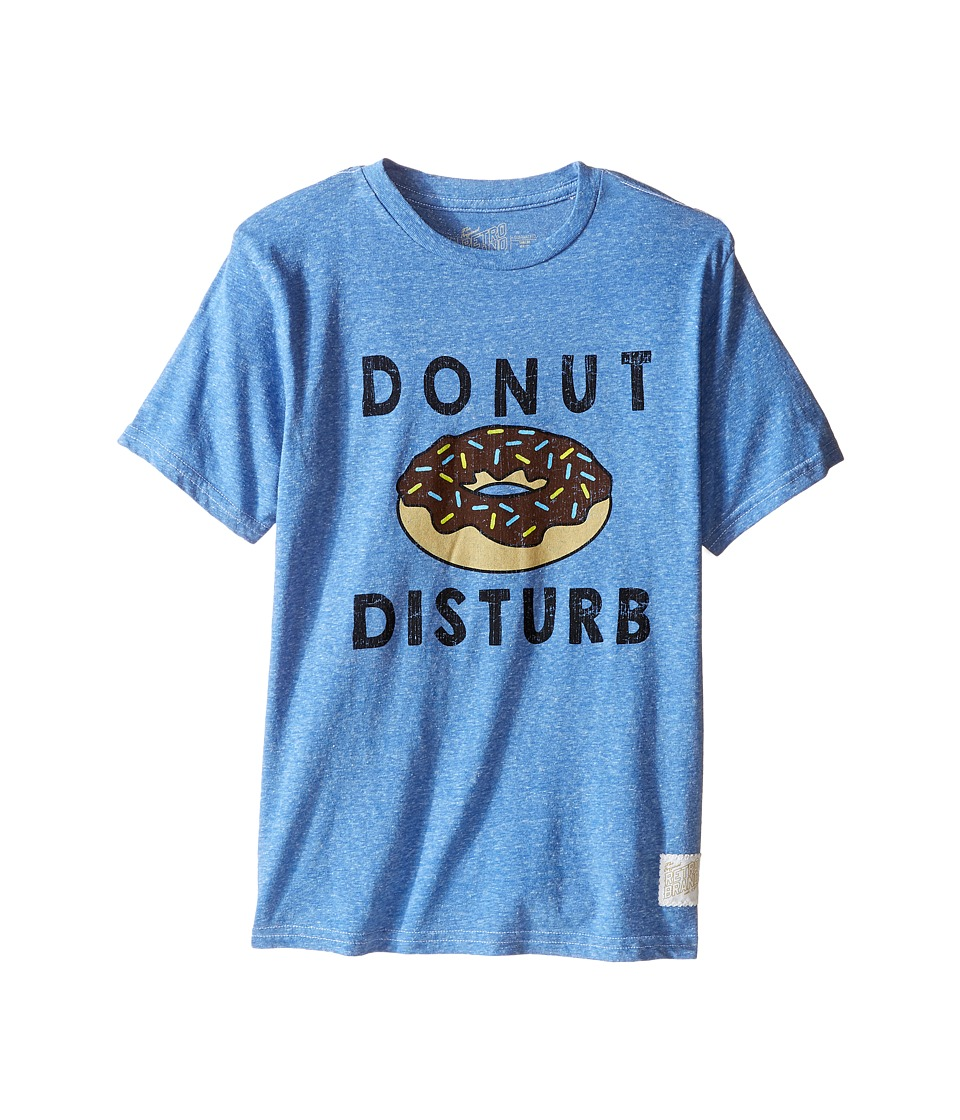 The Original Retro Brand Kids - Donut Disturb Short Sleeve Tri-Blend Tee (Little Kids/Big Kids) (Streaky Blue) Boys T Shirt