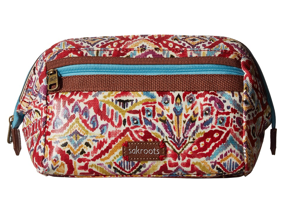 Sakroots - Artist Circle Carryall Cosmetic (Sweet Red Brave Beauti) Cosmetic Case