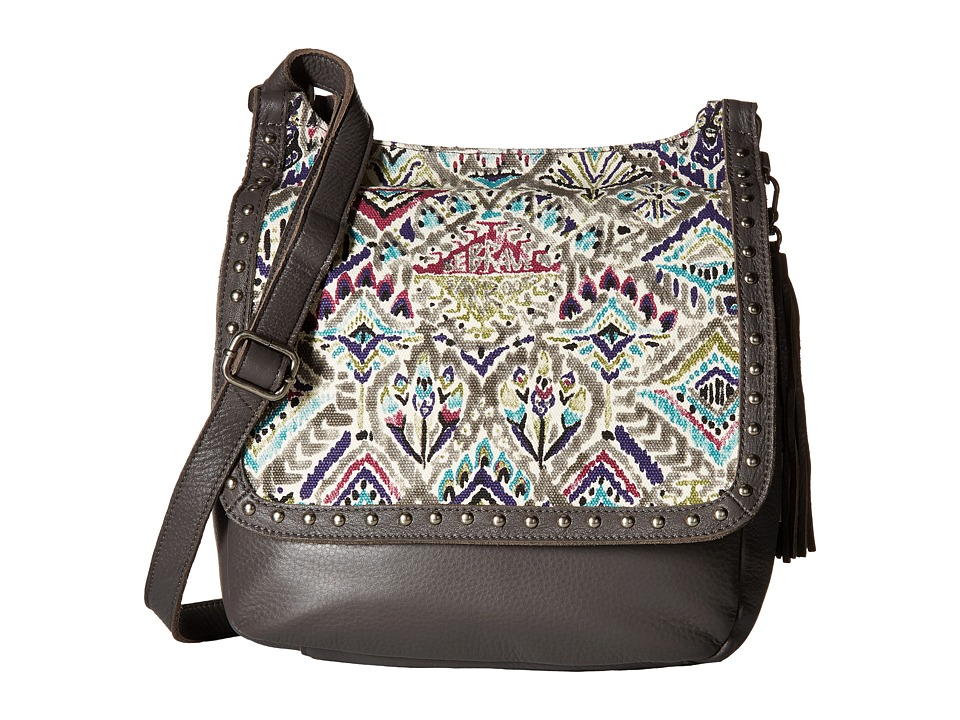 Sakroots - Artist Circle Seni Flap Crossbody (Slate Brave Beauti) Cross Body Handbags