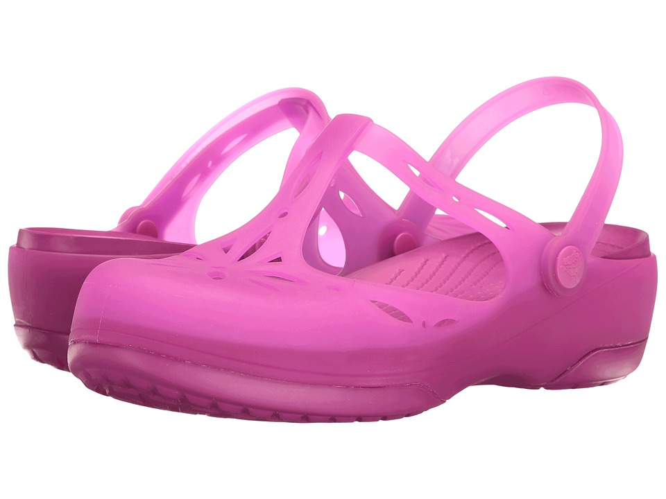 Crocs Carlie Cutout Clog (Vibrant Violet) Women