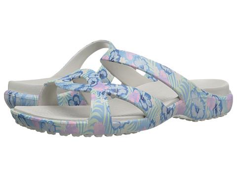 Crocs Meleen Twist Graphic Sandal - Light Blue/Tropical