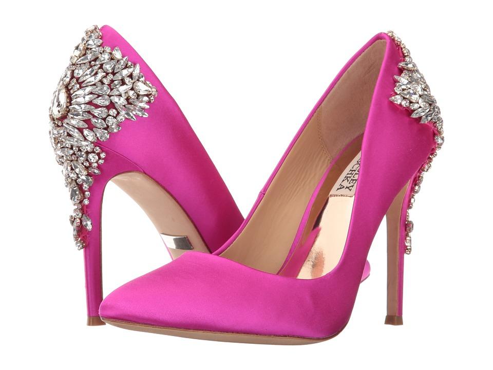 Badgley Mischka Gorgeous (Carmine Pink Satin) High Heels