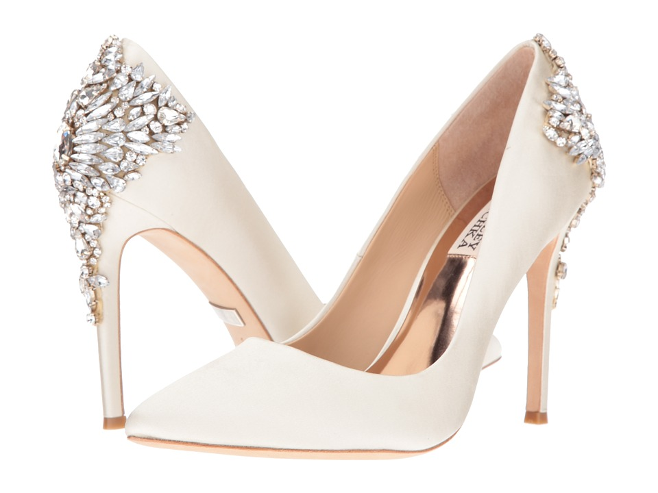 Badgley Mischka - Gorgeous (Ivory Satin) High Heels