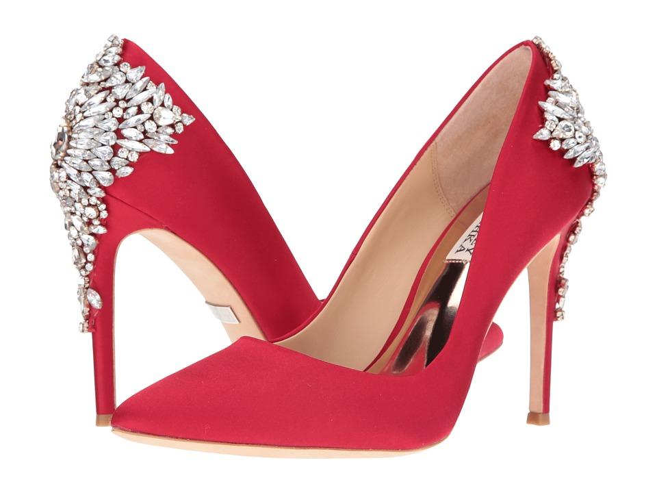 Badgley Mischka Gorgeous (Red Satin) High Heels