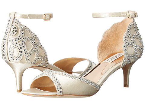 Badgley Mischka Gillian - Ivory Satin/Suede