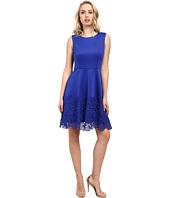 Taylor - Scuba/Lace Fit & Flare Dress