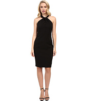 Taylor - Stretch Crepe Twist Neck Dress