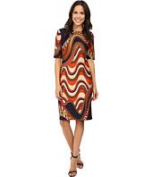 Taylor - Printed Scuba Midi Dress