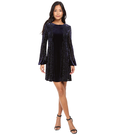 Taylor Burnout Evelvet Trapez Dress