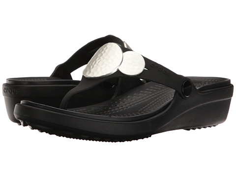 Crocs Sanrah Embellished Wedge Flip