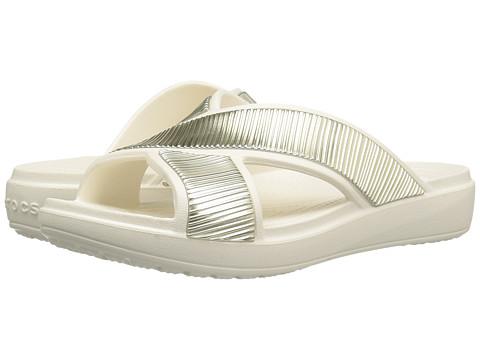 Crocs Sloane Embellished Xstrap - Oyster/Gold