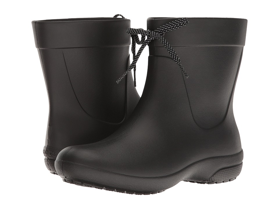 Crocs Freesail Shorty Rain Boot (Black) Women