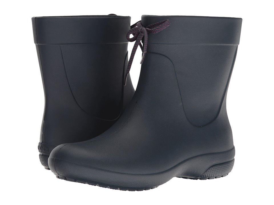 Crocs Freesail Shorty Rain Boot (Navy) Women