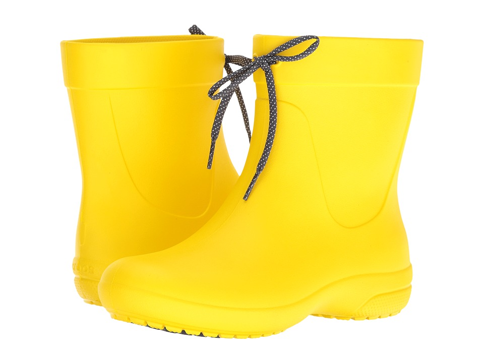 Crocs Freesail Shorty Rain Boot (Lemon) Women