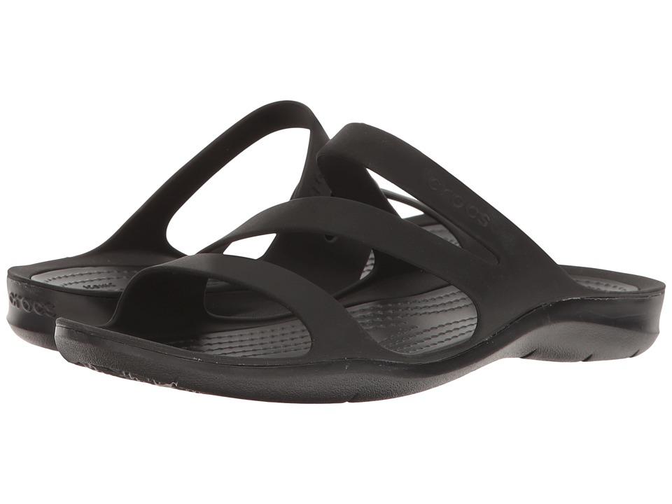 Crocs Swiftwater Sandal (Black/Black) Sandals