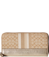 COACH - Legacy Signature Stripe Accordian Wallet