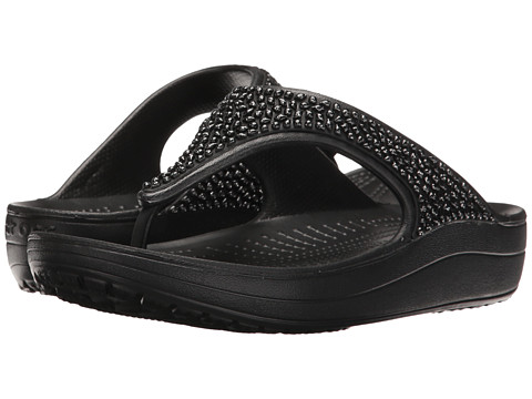 Crocs Sloane Embellished Flip - Black/Black