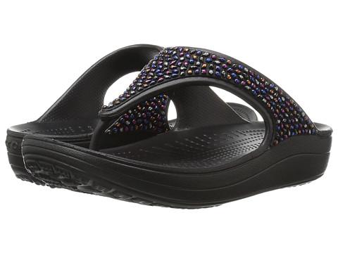 Crocs Sloane Embellished Flip - Black/Multi