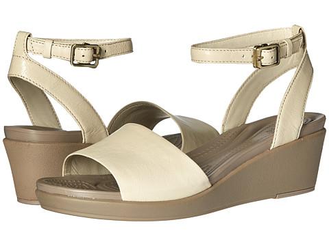 Crocs Leigh-Ann Ankle Strap Leather - Stucco