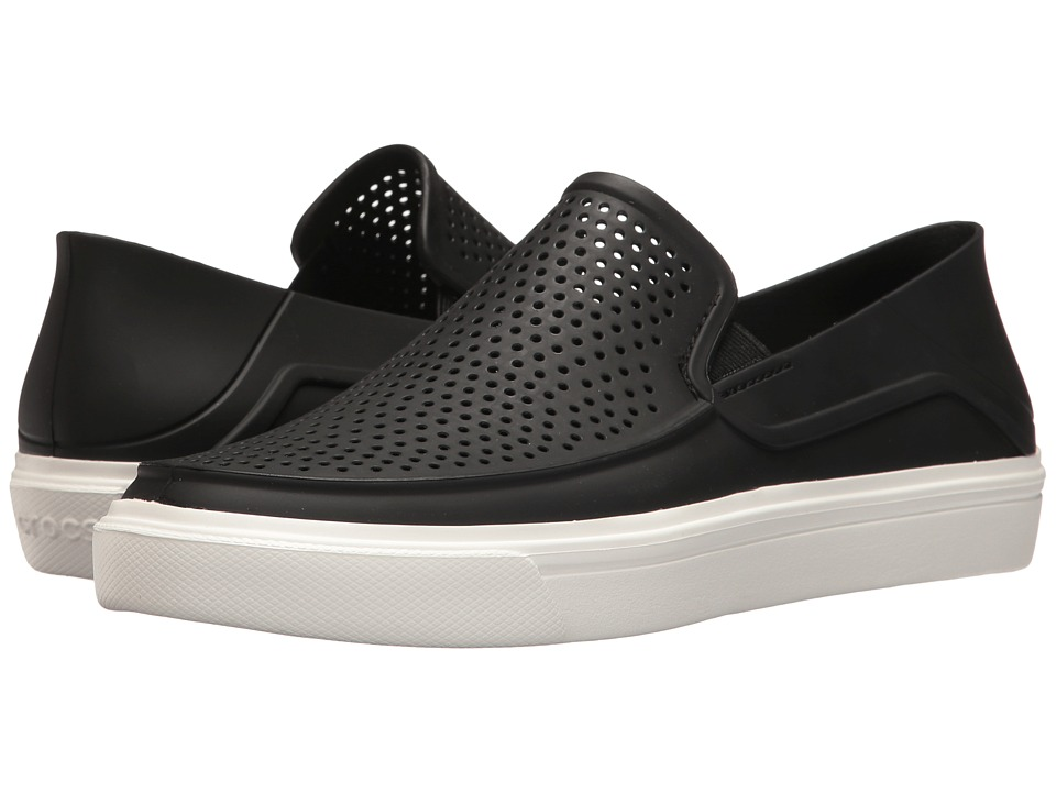 Crocs - CitiLane Roka Slip-On (Black) Women's Slip on  Shoes
