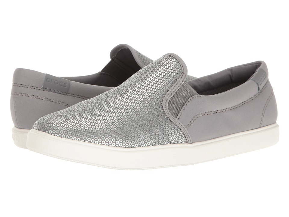 Crocs CitiLane Sequin Slip-On (Silver) Women