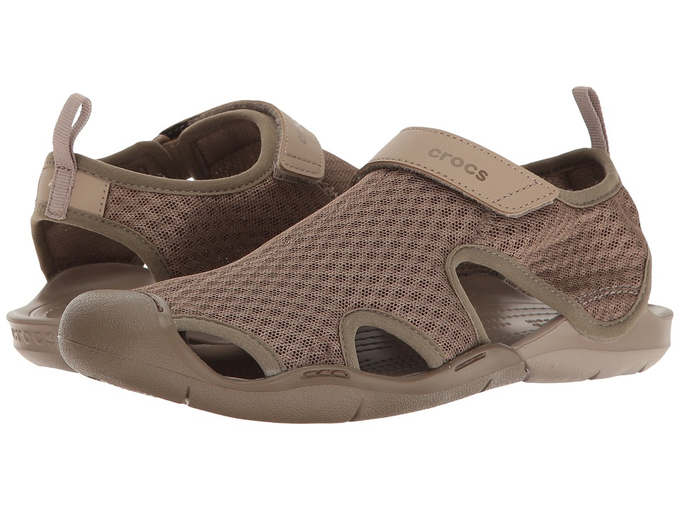 Crocs Swiftwater Mesh Sandal (Walnut) Women's Sandals