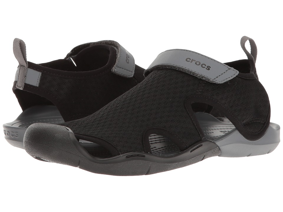 Crocs Swiftwater Mesh Sandal (Black) Women's Sandals