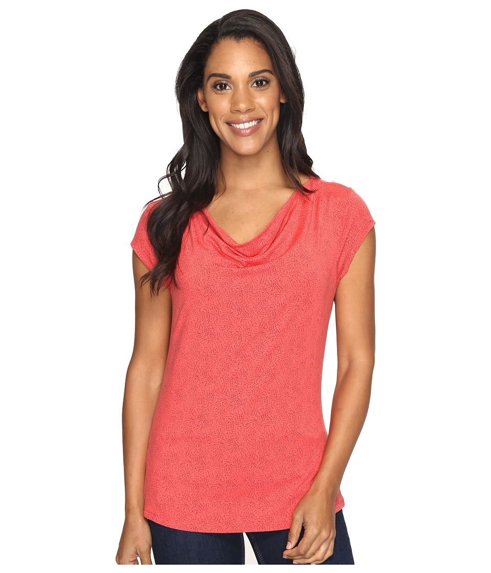 Toad&Co Susurro Short Sleeve Tee (Bright Coral Texture Print) Women