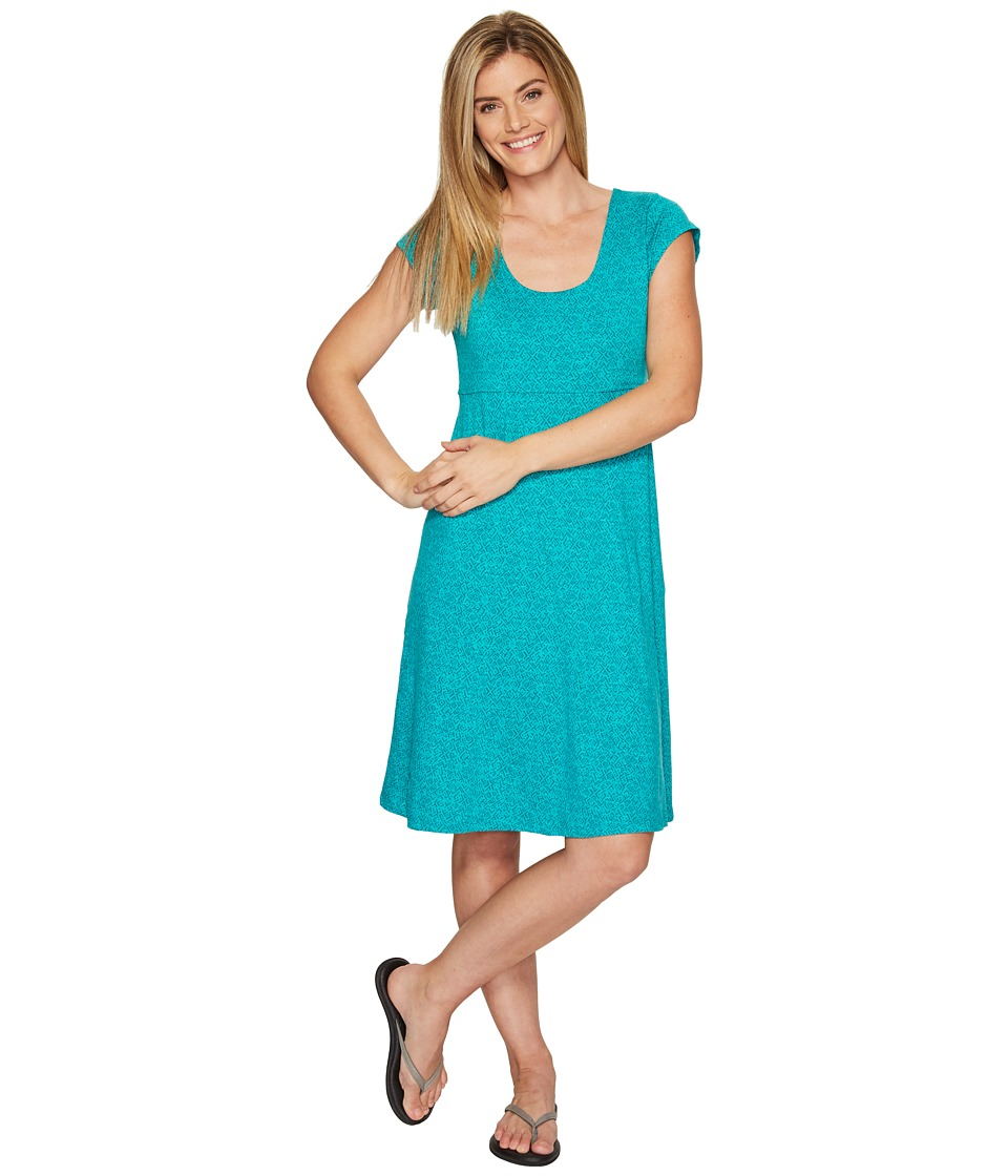Toad&Co Nena Dress (Turquoise Cove Geo Print) Women