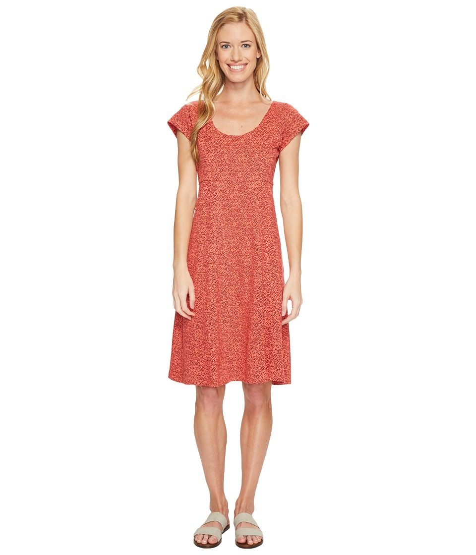 Toad&Co Nena Dress (Spiced Coral Geo Print) Women