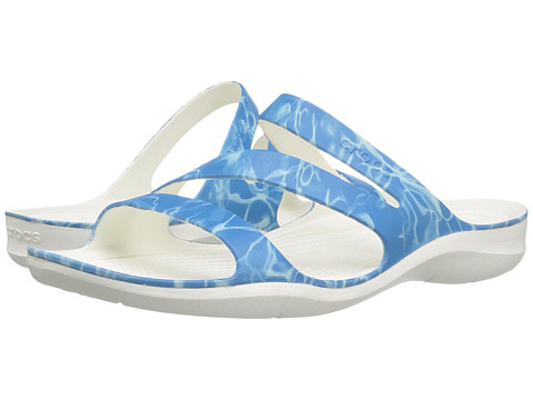 Crocs Swiftwater Graphic Sandal - Water/White