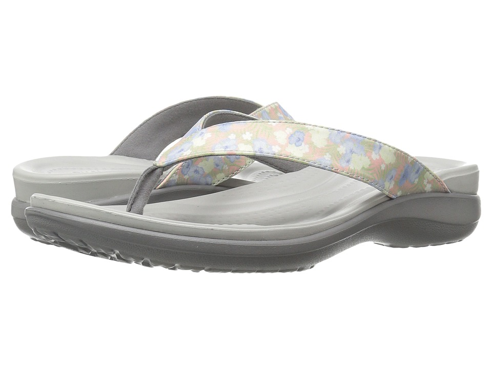Crocs Capri V Graphic (Floral/Light Grey) Women